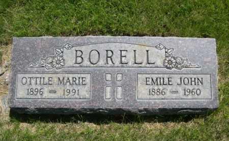 BORELL, EMILE JOHN - Dawes County, Nebraska   EMILE JOHN BORELL - Nebraska Gravestone Photos