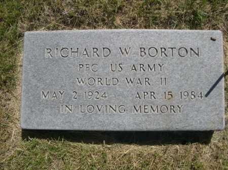 BORTON, RICHARD W. - Dawes County, Nebraska | RICHARD W. BORTON - Nebraska Gravestone Photos