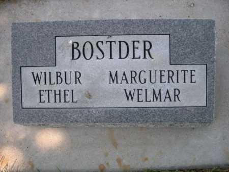 BOSTDER, ETHEL - Dawes County, Nebraska | ETHEL BOSTDER - Nebraska Gravestone Photos