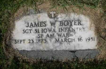 BOYER, JAMES W. - Dawes County, Nebraska | JAMES W. BOYER - Nebraska Gravestone Photos