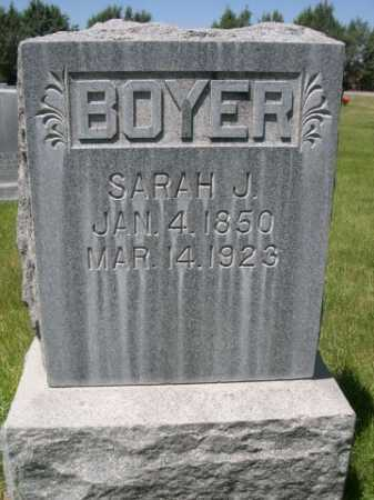 BOYER, SARAH J. - Dawes County, Nebraska | SARAH J. BOYER - Nebraska Gravestone Photos