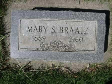 BRAATZ, MARY S. - Dawes County, Nebraska | MARY S. BRAATZ - Nebraska Gravestone Photos