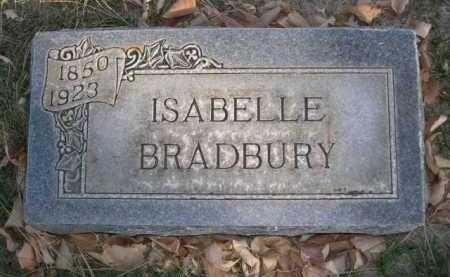 BRADBURY, ISABELLE - Dawes County, Nebraska | ISABELLE BRADBURY - Nebraska Gravestone Photos