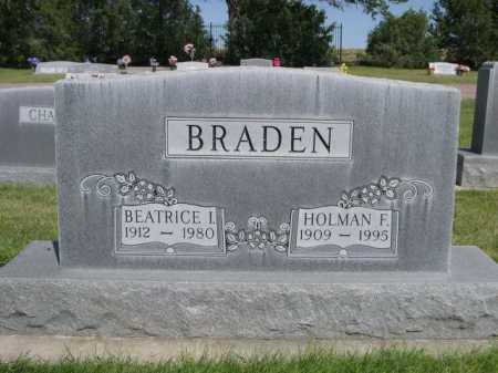 BRADEN, HOLMAN F. - Dawes County, Nebraska | HOLMAN F. BRADEN - Nebraska Gravestone Photos
