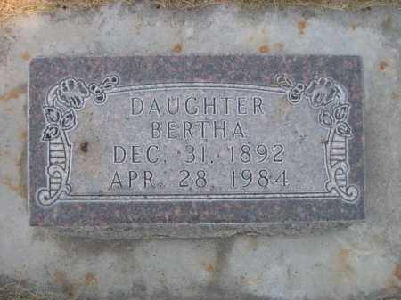 BRADDOCK, BERTHA - Dawes County, Nebraska   BERTHA BRADDOCK - Nebraska Gravestone Photos