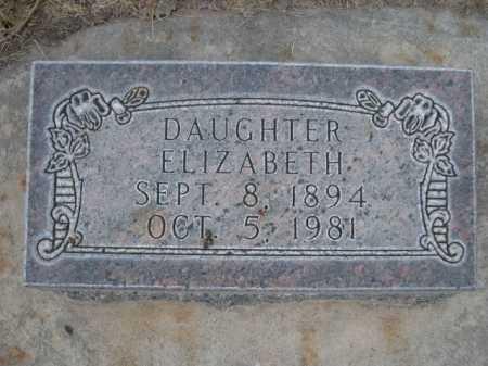 BRADDOCK, ELIZABETH - Dawes County, Nebraska   ELIZABETH BRADDOCK - Nebraska Gravestone Photos