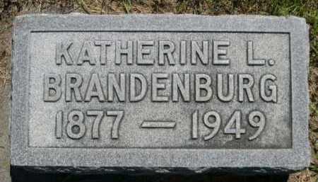 BRANDENBURG, KATHERINE L. - Dawes County, Nebraska | KATHERINE L. BRANDENBURG - Nebraska Gravestone Photos