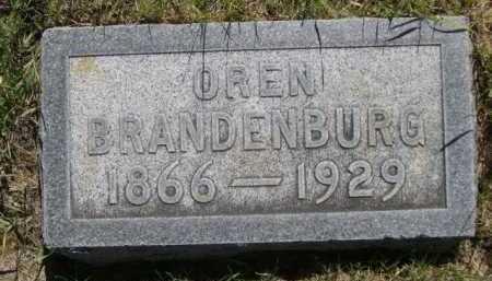 BRANDENBURG, OREN - Dawes County, Nebraska | OREN BRANDENBURG - Nebraska Gravestone Photos