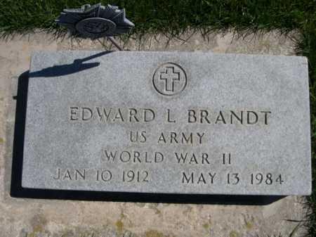 BRANDT, EDWARD L. - Dawes County, Nebraska   EDWARD L. BRANDT - Nebraska Gravestone Photos