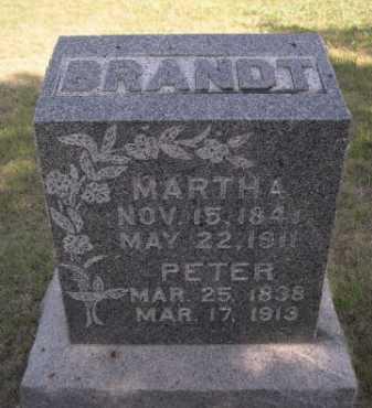 BRANDT, MARTHA A. - Dawes County, Nebraska   MARTHA A. BRANDT - Nebraska Gravestone Photos