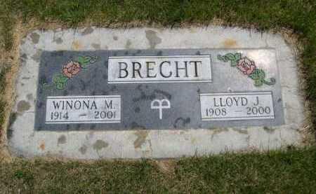 BRECHT, WINONA M. - Dawes County, Nebraska | WINONA M. BRECHT - Nebraska Gravestone Photos