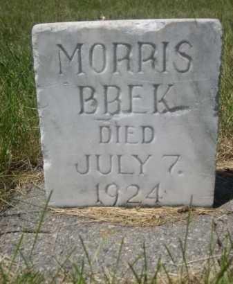 BREK, MORRIS - Dawes County, Nebraska | MORRIS BREK - Nebraska Gravestone Photos