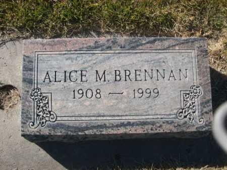 BRENNAN, ALICE M - Dawes County, Nebraska | ALICE M BRENNAN - Nebraska Gravestone Photos