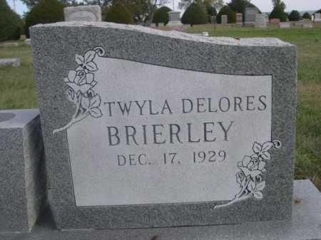 BRIERLEY, TWYLA DELORES - Dawes County, Nebraska   TWYLA DELORES BRIERLEY - Nebraska Gravestone Photos