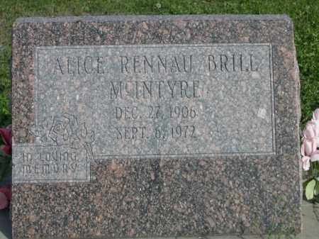 RENNAU BRILL, ALICE - Dawes County, Nebraska | ALICE RENNAU BRILL - Nebraska Gravestone Photos