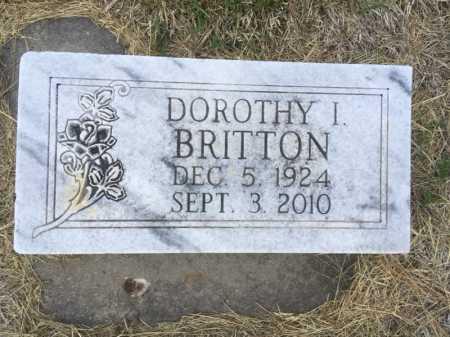 BRITTON, DOROTHY I. - Dawes County, Nebraska | DOROTHY I. BRITTON - Nebraska Gravestone Photos