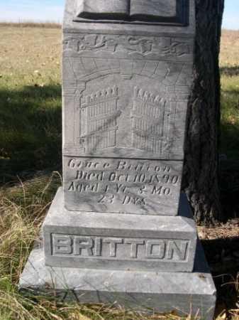 BRITTON, GRACE - Dawes County, Nebraska   GRACE BRITTON - Nebraska Gravestone Photos