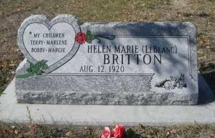 LEBLANC BRITTON, HELEN MARIE - Dawes County, Nebraska | HELEN MARIE LEBLANC BRITTON - Nebraska Gravestone Photos