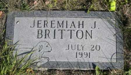BRITTON, JEREMIAH J. - Dawes County, Nebraska   JEREMIAH J. BRITTON - Nebraska Gravestone Photos