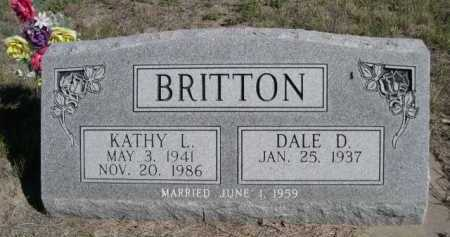 BRITTON, DALE D. - Dawes County, Nebraska | DALE D. BRITTON - Nebraska Gravestone Photos
