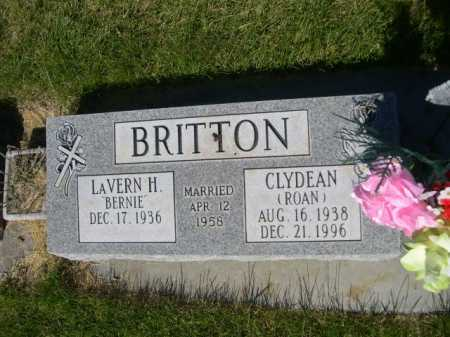 BRITTON, CLYDEAN - Dawes County, Nebraska | CLYDEAN BRITTON - Nebraska Gravestone Photos
