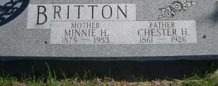 BRITTON, MINNIE H. - Dawes County, Nebraska   MINNIE H. BRITTON - Nebraska Gravestone Photos