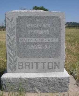 BRITTON, MARY A. - Dawes County, Nebraska | MARY A. BRITTON - Nebraska Gravestone Photos