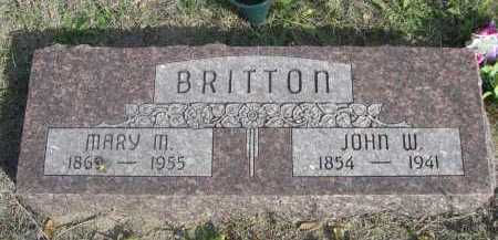 BRITTON, MARY M. - Dawes County, Nebraska | MARY M. BRITTON - Nebraska Gravestone Photos