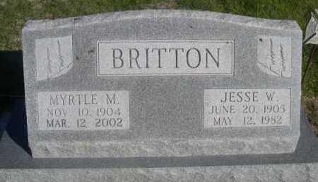 BRITTON, JESSE W. - Dawes County, Nebraska | JESSE W. BRITTON - Nebraska Gravestone Photos