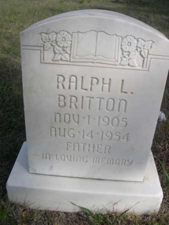 BRITTON, RALPH L. - Dawes County, Nebraska   RALPH L. BRITTON - Nebraska Gravestone Photos