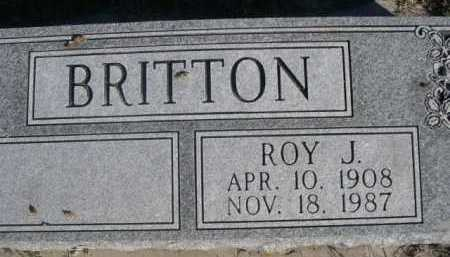 BRITTON, ROY J. - Dawes County, Nebraska | ROY J. BRITTON - Nebraska Gravestone Photos