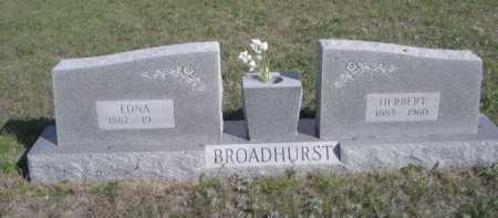 BROADHURST, EDNA - Dawes County, Nebraska   EDNA BROADHURST - Nebraska Gravestone Photos