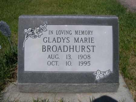 BROADHURST, GLADYS MARIE - Dawes County, Nebraska | GLADYS MARIE BROADHURST - Nebraska Gravestone Photos