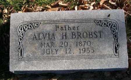 BROBST, ALVIA H. - Dawes County, Nebraska | ALVIA H. BROBST - Nebraska Gravestone Photos