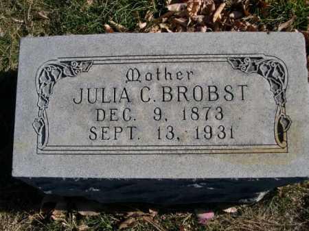 BROBST, JULIA C. - Dawes County, Nebraska   JULIA C. BROBST - Nebraska Gravestone Photos