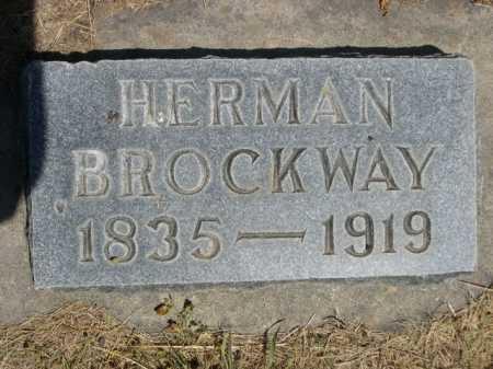 BROCKWAY, HERMAN - Dawes County, Nebraska | HERMAN BROCKWAY - Nebraska Gravestone Photos