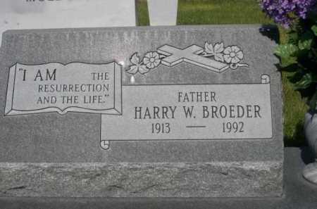 BROEDER, HARRY W. - Dawes County, Nebraska | HARRY W. BROEDER - Nebraska Gravestone Photos