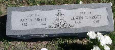 BROTT, EDWIN T. - Dawes County, Nebraska | EDWIN T. BROTT - Nebraska Gravestone Photos
