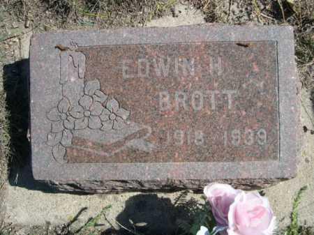 BROTT, EDWIN H. - Dawes County, Nebraska | EDWIN H. BROTT - Nebraska Gravestone Photos
