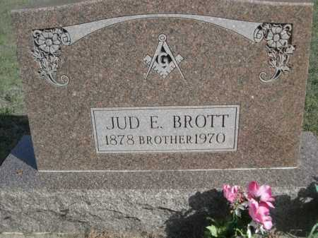 BROTT, JUD E. - Dawes County, Nebraska   JUD E. BROTT - Nebraska Gravestone Photos