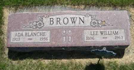 BROWN, ADA BLANCHE - Dawes County, Nebraska | ADA BLANCHE BROWN - Nebraska Gravestone Photos