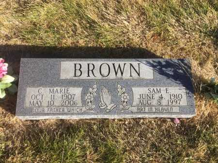 BROWN, SAM E. - Dawes County, Nebraska | SAM E. BROWN - Nebraska Gravestone Photos
