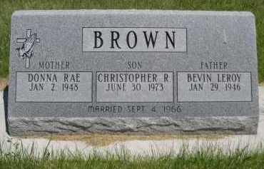 BROWN, BEVIN LEROY - Dawes County, Nebraska   BEVIN LEROY BROWN - Nebraska Gravestone Photos