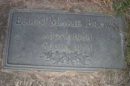 BROWN, ELLEN MARIE - Dawes County, Nebraska | ELLEN MARIE BROWN - Nebraska Gravestone Photos