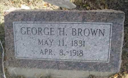 BROWN, GEORGE H. - Dawes County, Nebraska | GEORGE H. BROWN - Nebraska Gravestone Photos