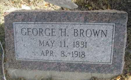 BROWN, GEORGE H. - Dawes County, Nebraska | GEORGE H. BROWN - Nebraska Gravestone Photos