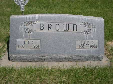 BROWN, ILA C. - Dawes County, Nebraska | ILA C. BROWN - Nebraska Gravestone Photos