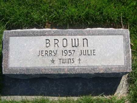 BROWN, JERRY - Dawes County, Nebraska | JERRY BROWN - Nebraska Gravestone Photos