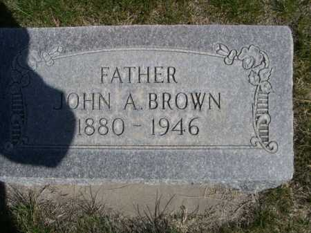 BROWN, JOHN A. - Dawes County, Nebraska | JOHN A. BROWN - Nebraska Gravestone Photos
