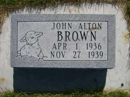 BROWN, JOHN ALTON - Dawes County, Nebraska | JOHN ALTON BROWN - Nebraska Gravestone Photos